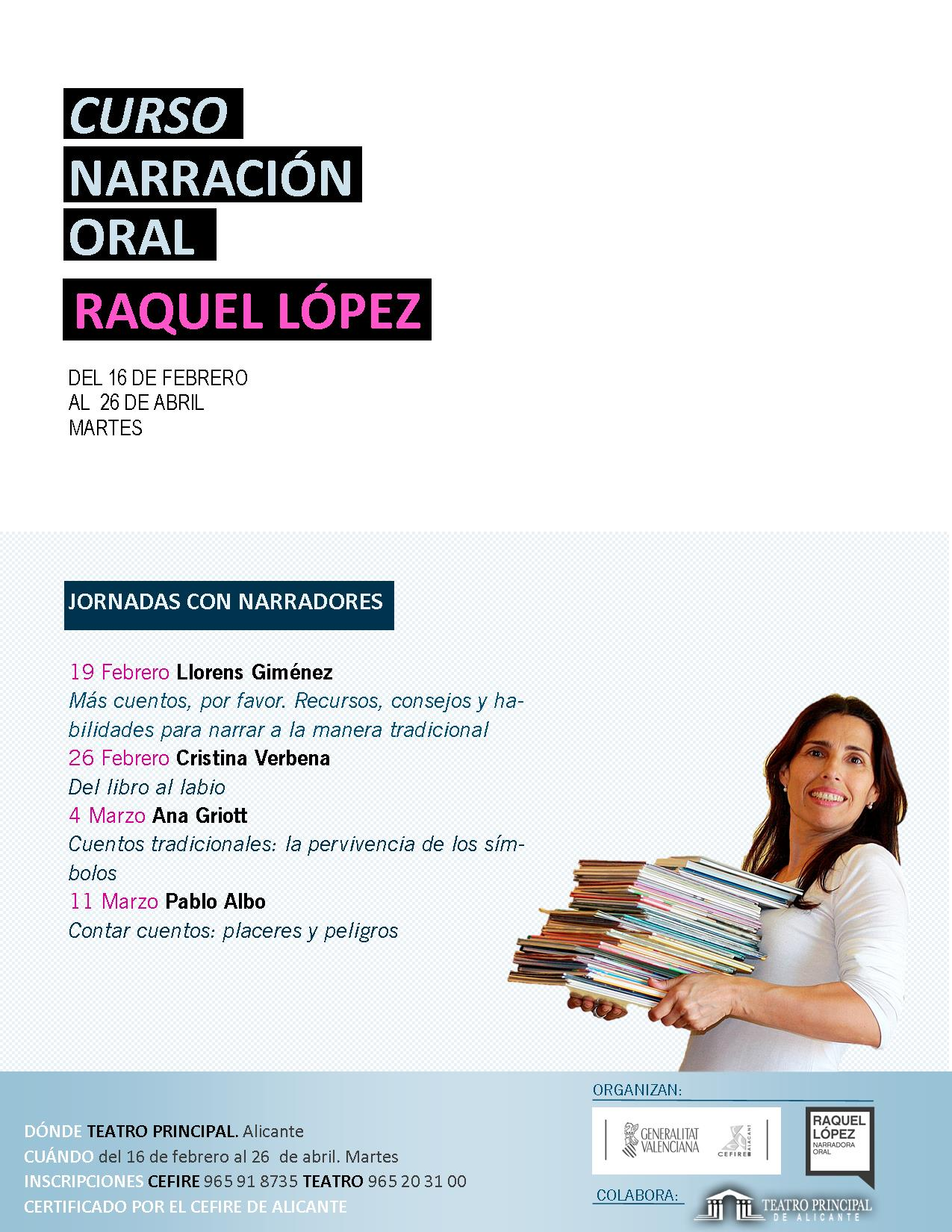 CURSO Y JORNADAS DE NARRACIÓN ORAL